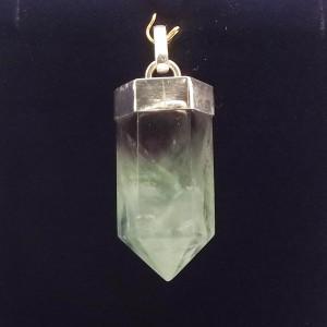 Kryształ fluorytu wisior srebro pr925