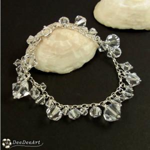 Kryształowa miłość - ślubna bransoletka Swarovski