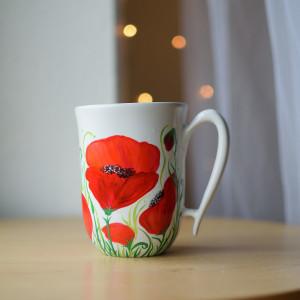 Kubek ręcznie malowany ceramiczny MAKI
