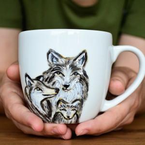 Kubek wilcza rodzina
