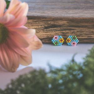 Kubiki - błękitne kwiaaty