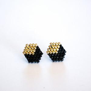 Kubiki - czerń i złoto