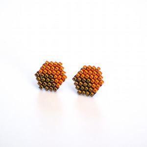 Kubiki - jesienne pomarańcz i brąz
