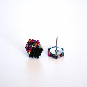 Kubiki - multikolor w czerni