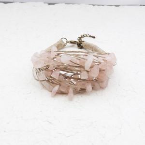 Kwarc różowy bransoletka