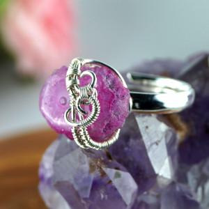 Kwarc, Srebrny pierścionek z kwarcem różowym