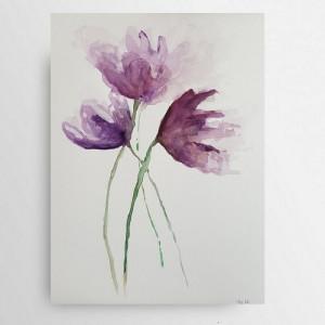 Kwiatki -akwarela formatu A4