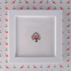 Kwiaty, miniatura, akwarela, prezent