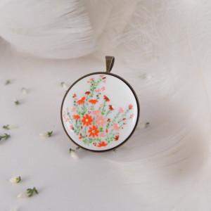 Kwiaty na łące, Porcelana ręcznie malowana