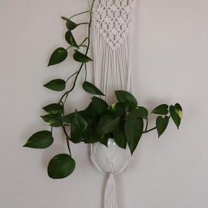 Kwietnik na kołeczku z sznurka bawełnianego 3mm
