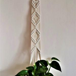 Kwietnik na kółeczku ze sznurka bawełnianego ecru