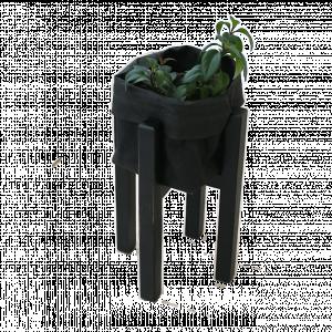 kwietnik stojak na kwiaty dębowy czarny