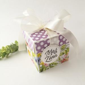 Łąka kwietna - pudełko ślubne