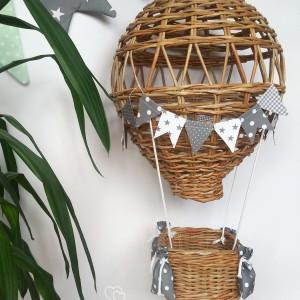 Lampa BALON II duży szary/biały