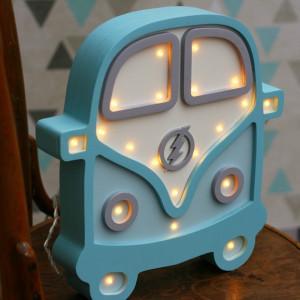 Lampa drewniana LED do dziecięcego pokoju - AUTO