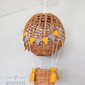 Lampa Latający BALON I natur szary/ żółty