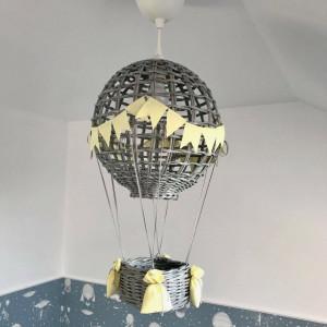 Lampa Latający BALON I szary/ żółty