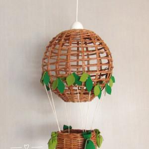 Lampa Latający BALON leśny I natur /zielone liście