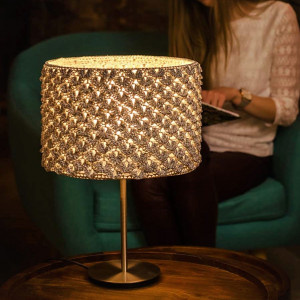 Lampa stołowa SILVER HYGGE