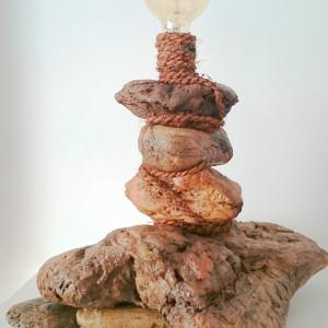 Lampa z drewna z morza nr 1 - Latarnia