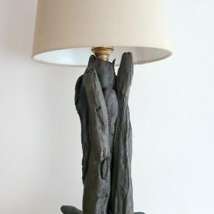Lampa z drewna z morza nr 36 - Na kamieniach