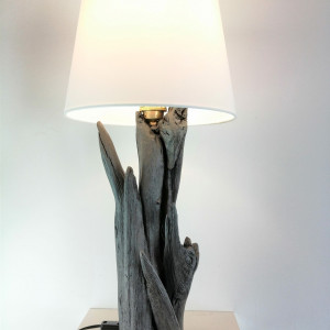 Lampa z drewna z morza nr 57 - Kuropatwa