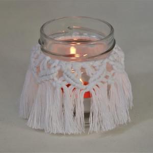 Lampion dekoracyjny w kolorze białym