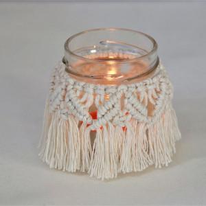 Lampion dekoracyjny w kolorze ecru