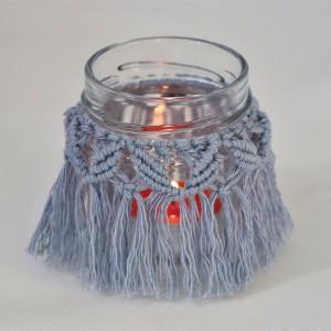 Lampion dekoracyjny w kolorze jasnoniebieskim
