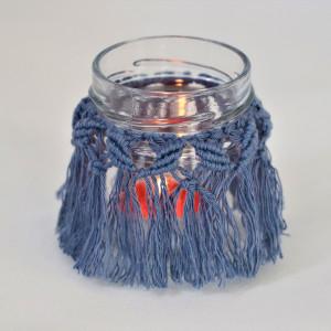 Lampion dekoracyjny w kolorze niebieskim