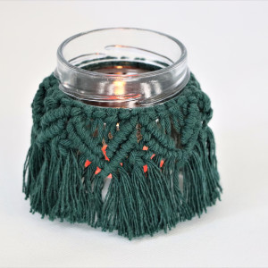 Lampion dekoracyjny w kolorze zieleni butelkowej
