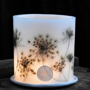 Lampion KARiTEe  i ceramiczną podstawką