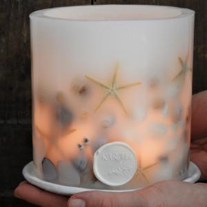 Lampion MORSKIE SKARBY z ceramiczną podstawką