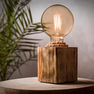 Lampka  drewniana loft
