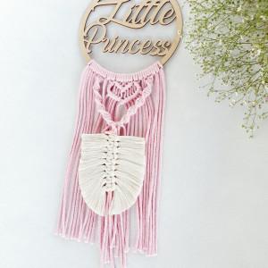 łapacz snów Little Princess liść piórko makrama