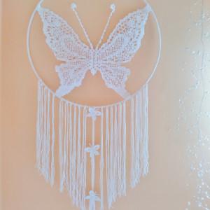 Łapacz snów motyl średnica 60 cm