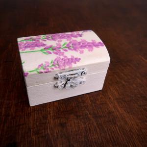 Lawendowe pudełeczko na pierścionek