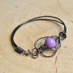 Lawendowo - bransoletka w fiolecie
