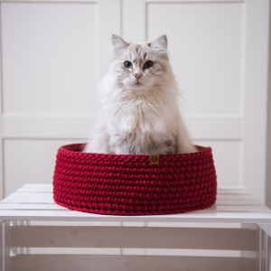 legowisko dla kota Cat Nest M bordowe
