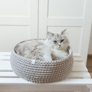 legowisko dla kota Cat Nest średnie szare