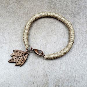 Len i liść - bransoletka
