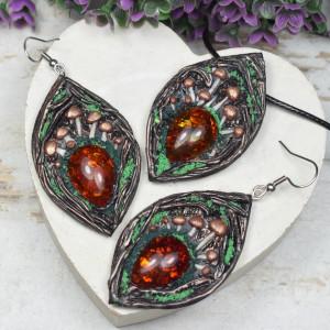 """Leśny komplet biżuterii """"Magic Forest"""""""