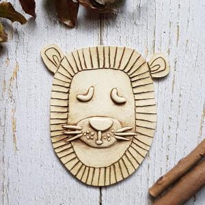 LEW boho, obrazek z lwem, zawieszka na ścianę
