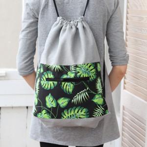 Linany plecak worek, lekki, elegancki plecak