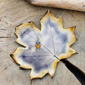 Liść ceramiczny, talerzyk (c294)