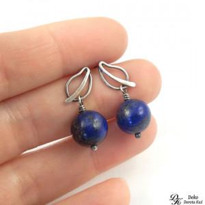 Listki z Lapisem lazuli - sztyfty