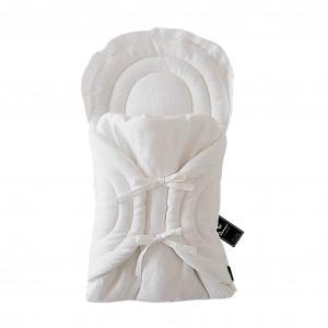 Lniany becik tradycyjny - biały