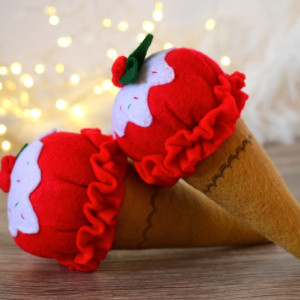 Lody z filcu Świąteczne / Jedzenie filcowe