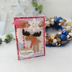 Łoooś - kartka świąteczna