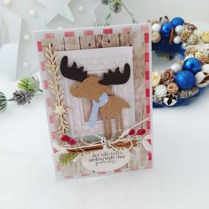 Łoooś na cynamonie - kartka świąteczna